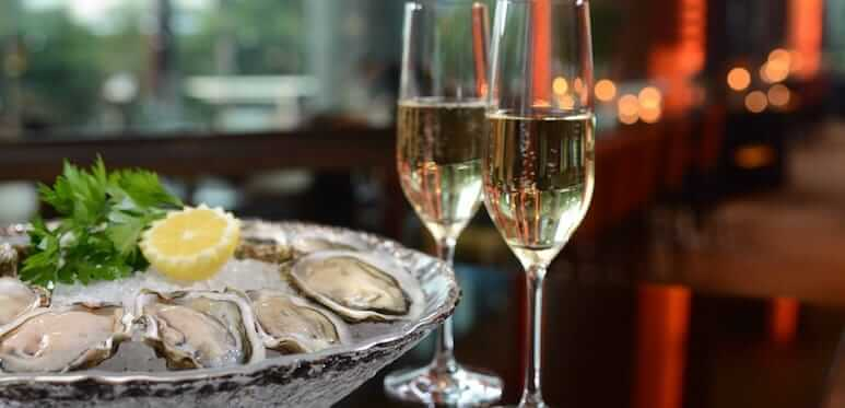 champagne oesters